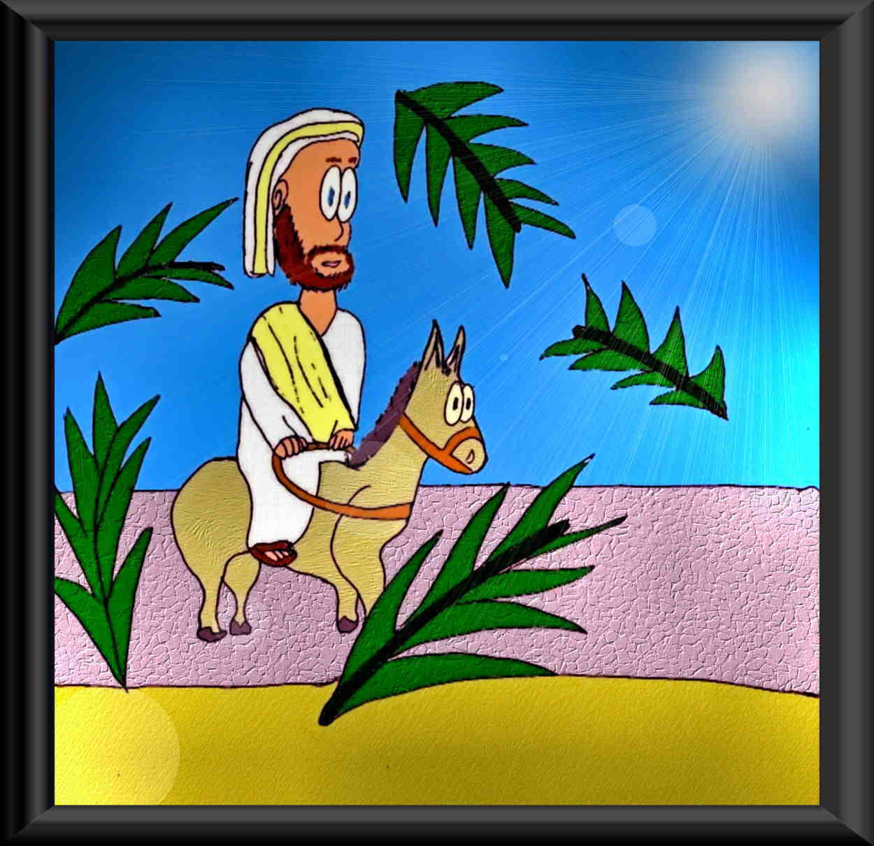 PALM SUNDAY ART SAMPLE